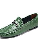 お買い得  メンズブレザー&スーツ-男性用 革靴 レザー 春 カジュアル / ブリティッシュ ローファー&スリップアドオン ウォーキング Brown / グリーン / ネービーブルー