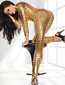 halpa Zentai-Juhla-asu Kissapuku Ihon puku Aikuisten Spandex Lateksi Cosplay-asut Jumpsuit-tanssipuvut Sukupuoli Naisten Musta / Hopea / Fuksia Ontto Joulu Halloween Karnevaali