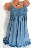 זול שמלות נשים-כתפיה מותניים גבוהים מעל הברך תחרה לגזור, אחיד - שמלה נדן מידות גדולות בסיסי בגדי ריקוד נשים / סקסית