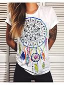 billige T-shirt-Dame - Geometrisk T-shirt Hvid L