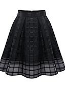 お買い得  ロマンチックレース-女性用 活発的 / ストリートファッション Aライン スカート - ソリッド