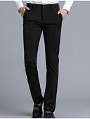 お買い得  メンズセーター&カーデガン-男性用 ベーシック スーツ パンツ - ソリッド ブラック