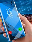 hesapli iPhone Kılıfları-Pouzdro Uyumluluk Apple iPhone XS / iPhone XR / iPhone XS Max Satandlı / Kaplama / Ayna Tam Kaplama Kılıf Solid Sert PU Deri