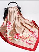 cheap Women's Scarves-Women's Square Scarf - Polka Dot / Floral Tassel