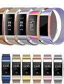 halpa Smartwatch-nauhat-Watch Band varten Fitbit Charge 3 Fitbit Milanolainen Ruostumaton teräs Rannehihna