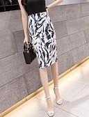 お買い得  レディーススカート-女性用 ベーシック ペンシルベイト スカート - 幾何学模様