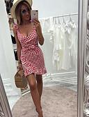 hesapli Kadın Elbiseleri-Kadın's İnce Kılıf Elbise V Yaka Diz üstü / Sexy