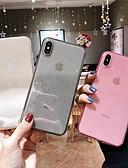 povoljno Zaštitne folije za iPhone-Θήκη Za Apple iPhone XS / iPhone XR / iPhone XS Max Prozirno / Šljokice Stražnja maska Jednobojni Mekano TPU