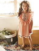お買い得  女児 ドレス-子供 / 幼児 女の子 甘い / かわいいスタイル フラワー ノースリーブ ドレス ピンク