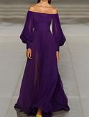 cheap Maxi Dresses-Fashion Chiffon Dresses Women's Maxi Swing Dress Off Shoulder Purple XL XXL XXXL
