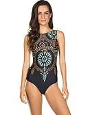ieftine One-piece swimsuits-Pentru femei Maro O Piesă Costume de Baie - Geometric M L XL Maro