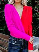 זול חולצה-גיאומטרי מידות גדולות חולצה - בגדי ריקוד נשים אודם M