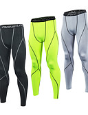 cheap Men's Pants & Shorts-21Grams Men's Compression Pants Running Tights Gym Leggings Grey Black / Green White+Gray Sports Spandex Compression Clothing Tights Leggings Fitness Gym Workout Exercise Plus Size Activewear Quick