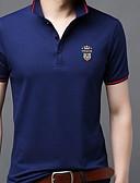 abordables Ropa Interior y Calcetines de Hombre-Hombre Retazos Camiseta, Cuello Camisero Delgado Un Color Negro XL