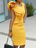 cheap Women's Skirts-2019 New Arrival Dresses Women's Bodycon Dress Elbise Vestidos Robe Femme Yellow XXXXL XXXXXL XXXXXXL