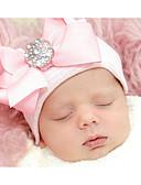זול ילדים כובעים ומצחיות-מידה אחת ורוד מסמיק / בז' / קשת כובעים ומצחיות חוטי זהורית פפיון אחיד / פסים בסיסי / מתוק יוניסקס תינוק