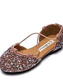 رخيصةأون ملابس الأميرات-للفتيات أحذية المواد التركيبية الربيع مريح / أحذية زهرة فتاة اخفاف إلى أطفال / مراهق أسود / فضي / زهري