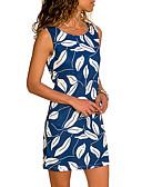 preiswerte Damen Kleider-Damen Grundlegend Hülle Kleid - Druck, Geometrisch Übers Knie