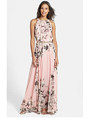 hesapli NYE Elbiseleri-A-Şekilli Taşlı Yaka Yere Kadar Şifon Kurdeleler ile Resmi Akşam Elbise tarafından LAN TING Express