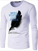 preiswerte Herren Polo Shirts-Herrn Solide Baumwolle T-shirt, Rundhalsausschnitt Druck Marineblau XXXL