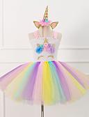 Χαμηλού Κόστους Φορέματα για κορίτσια-Unicorn Πόνυ Στολές Κλασσική / Παραδοσιακή Lolita Κοριτσίστικα Παιδικά Φορέματα Μεσοφόρι Τούτου Κάτω από τη φούστα Λευκό / Ροζ Πεπαλαιωμένο Cosplay Σατέν Πάρτι Επίδοση Φεστιβάλ Πριγκίπισσα