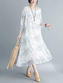 preiswerte Damen Kleider-Damen Retro Swing Kleid - Druck, Geometrisch Midi