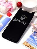 halpa Samsung Case-Etui Käyttötarkoitus Samsung Galaxy S9 / S9 Plus Ultraohut / Kuvio Takakuori Kissa / 3D sarjakuva Pehmeä TPU