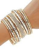 abordables Joyas de Moda-Mujer Legierung Diamante Básico Un Color / pulsera