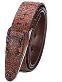 رخيصةأون أحزمة الرجال-حزام خصر لون سادة رجالي, أساسي