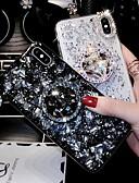 Недорогие Защитные плёнки для экрана iPhone-Кейс для Назначение Apple iPhone XS / iPhone XR / iPhone XS Max Стразы Кейс на заднюю панель Стразы Твердый Акрил