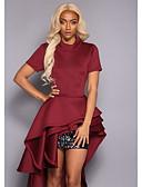 hesapli NYE Elbiseleri-Kadın's İnce Çan Elbise Fırfırlı Maksi