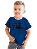 levne Chlapecké mikiny-Děti / Toddler Chlapecké Aktivní / Základní Geometrický / Tisk Tisk Krátký rukáv Bavlna / Polyester Košilky Rubínově červená