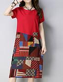 hesapli Kadın Elbiseleri-Kadın's Temel Kılıf Elbise - Geometrik Diz-boyu