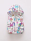levne Dětské bundičky a kabátky-Dítě Dívčí Základní Tisk Standardní Polyester S podšívkou Námořnická modř