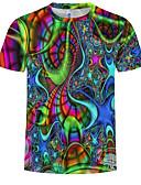 Χαμηλού Κόστους Ανδρικά μπλουζάκια και φανελάκια-Ανδρικά T-shirt Ουράνιο Τόξο Στρογγυλή Λαιμόκοψη Θαλασσί XL