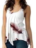 economico Camicie da donna-Canotte - Taglie forti Per donna Pop art Nero / Taglia piccola