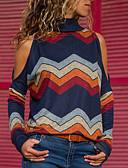 economico Camicie da donna-Camicia Per donna A strisce Verde L