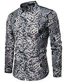 abordables Camisas de Hombre-Hombre Talla EU / US Camisa Animal Marrón L