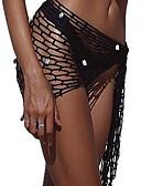 זול ביקיני ובגדי ים-שחור מידה אחת אחיד, בגדי ים חלק אחד (שלם) שחור צהוב חאקי בגדי ריקוד נשים