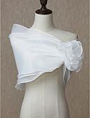 ราคาถูก ผ้าคลุมสำหรับชุดแต่งงาน-เสื้อไม่มีแขน ออแกนซ่า งานแต่งงาน / งานปาร์ตี้ / งานราตรี Women's Wrap กับ ดอกไม้ Boleros / ผ้าคลุมไหลถัก