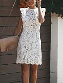 billige Kjoler-kvinner over kneet bodycon kjole hvit s m l xl