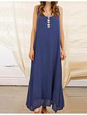 billige Maxikjoler-kvinners maxi swing kjole hvit svart blå s m l xl