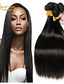 お買い得  ヴィンテージドレス-6バンドル ペルービアンヘア ストレート 100%レミヘアウィッグバンドル ヘッドピース 人間の髪編む バンドル髪 8-28 インチ ナチュラルカラー 人間の髪織り 無臭 ソフト シルキー 人間の髪の拡張機能 女性用 / シルクベースヘア