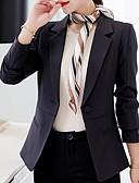halpa Bleiserit-Naisten Bleiseri Lovikäänne Polyesteri Punastuvan vaaleanpunainen / Vaalean sininen / Laivastosininen L / XL / XXL