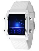 baratos Relógios de Casal-Casal Relógio Esportivo Quartzo Silicone Preta / Branco Alarme Luminoso Digital Casual Fashion - Branco Preto Um ano Ciclo de Vida da Bateria