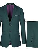 povoljno Odijela-Kava / Tamno plava / Crno Jednobojni Standardni kroj polyster / Liocel Odijelo - Stepenasti Droit 2 boutons / odijela