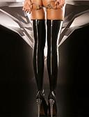 hesapli Sutyenler-Kadın's Süper Seksi İnce Külotlu Çoraplar - Solid Siyah Tek Boyut
