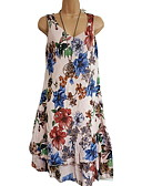 cheap Print Dresses-Women's Casual / Daily Beach Maxi Slim A Line T Shirt Swing Dress Floral Holiday Strap Army Green Khaki Royal Blue XXXL XXXXL XXXXXL