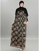 זול חליפות שני חלקים לנשים-מקסי קצוות תחרה, גיאומטרי - שמלה עבאיה כפתן מתוחכם אלגנטית בגדי ריקוד נשים
