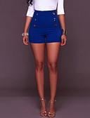abordables Parkas pour Femme-Femme Justaucorps Short Pantalon - Couleur Pleine / simple Noir